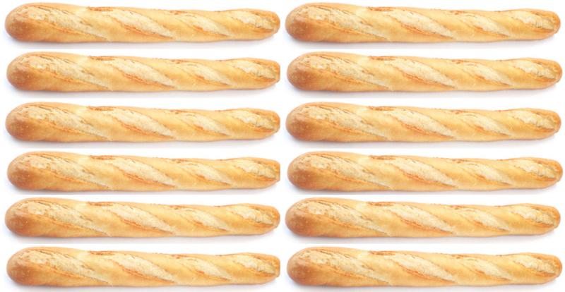 12 baguettes de pain