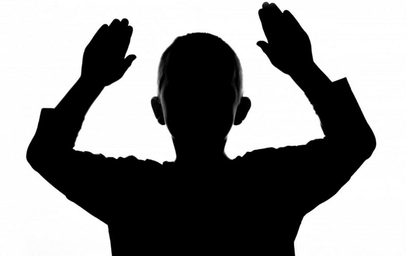 Image figurant un enfant en ombre chinoise. DR.