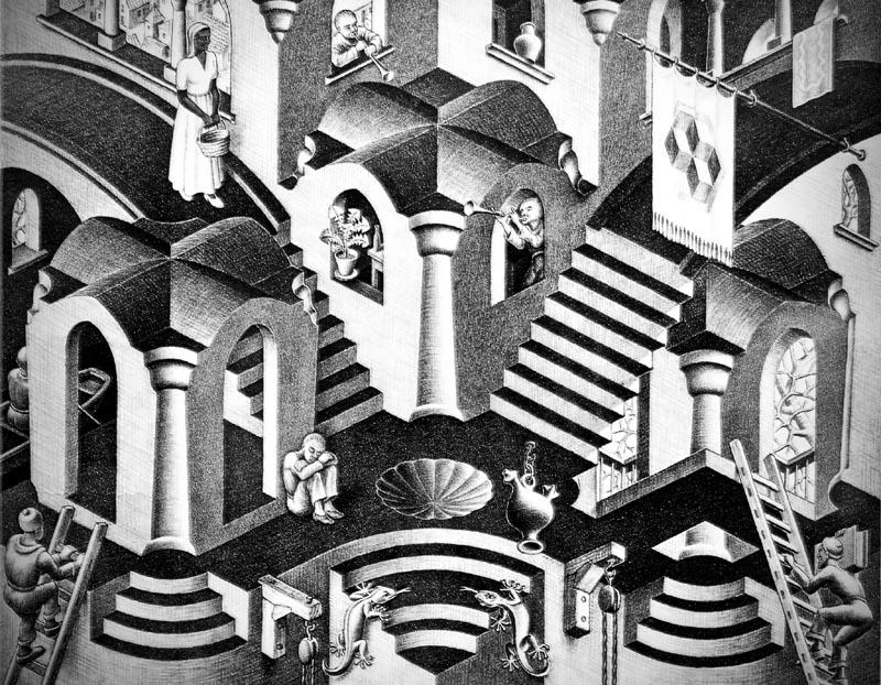 'Convexe et concave', par Maurits Cornelis Escher. DR.