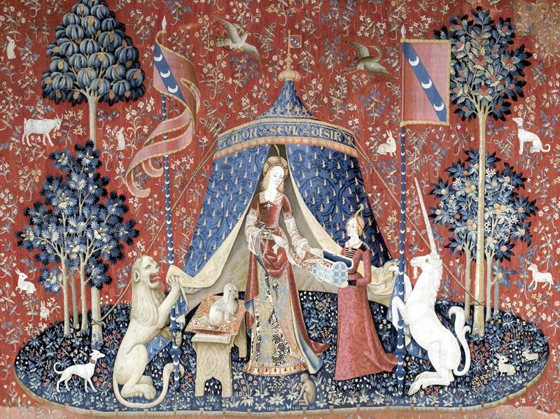 Tenture de La Dame à la licorne 'Mon seul désir'. Vers 1500. Paris. Musée de Cluny Musée National du Moyen Âge. © RMN-Gand Palais Michel Urtado.