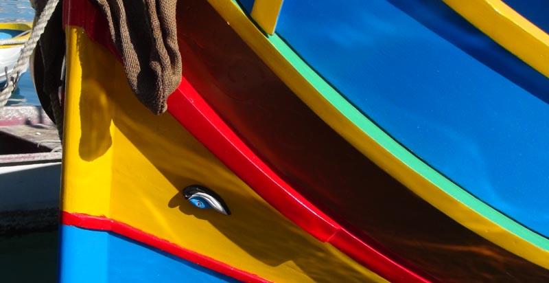 Marsaxlokk, barque de pêche