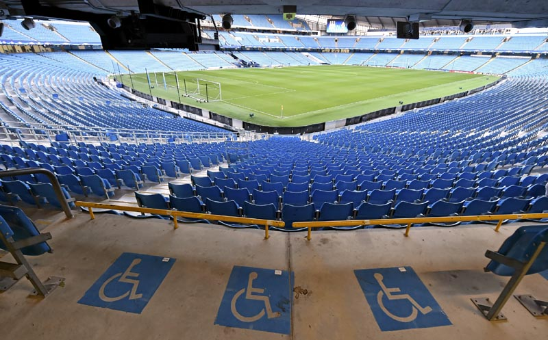 Places fauteuil dans un stade. © UEFA