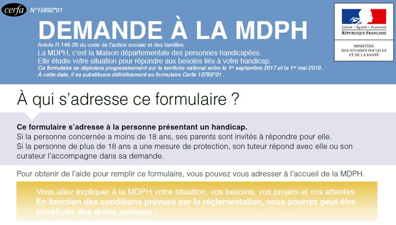 Formulaire MDPH