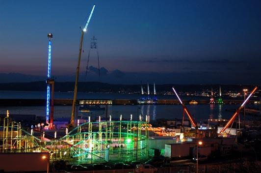 Vue nocturne du port de Marseille. © Alliage - François Nagot.