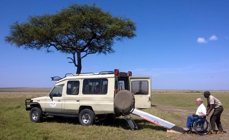 4x4 accessible dans le Masai Mara