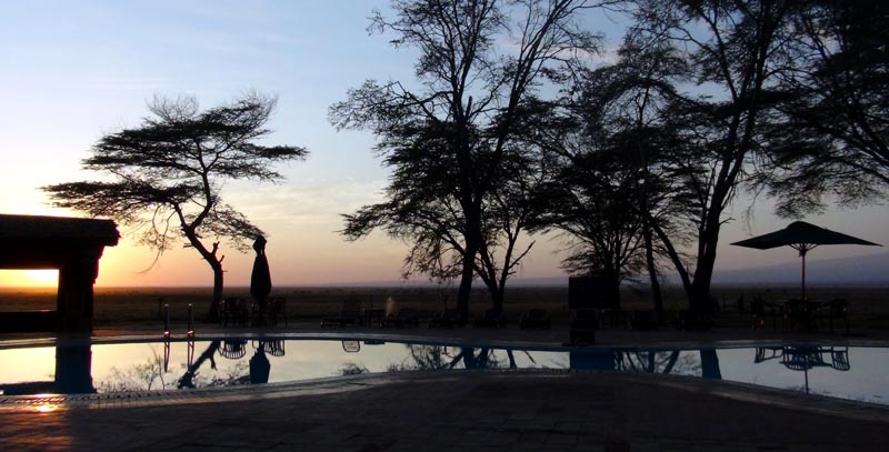 piscine panoramique du Ol Tukai Lodge