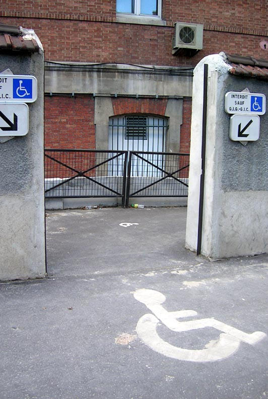 Paris Batignolles, entrée de la gare de marchandises