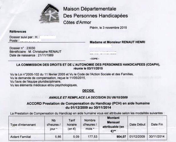 Côtes d'Armor : une famille paye l'erreur de la MDPH