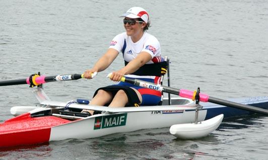Nathalie Benoit en skiff