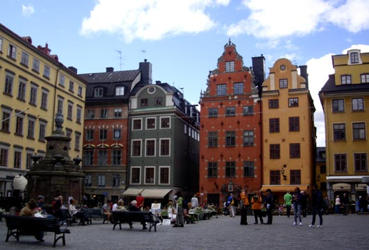Stockholm, Gamla Stan, place Stortorget.