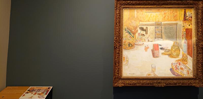 Le Cannet, musée-Bonnard, La salle à manger du Cannet, table tactile.
