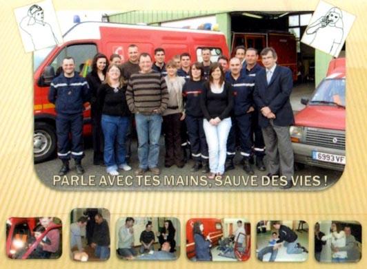 Affichette de promotion de la LSF dans les services de secours