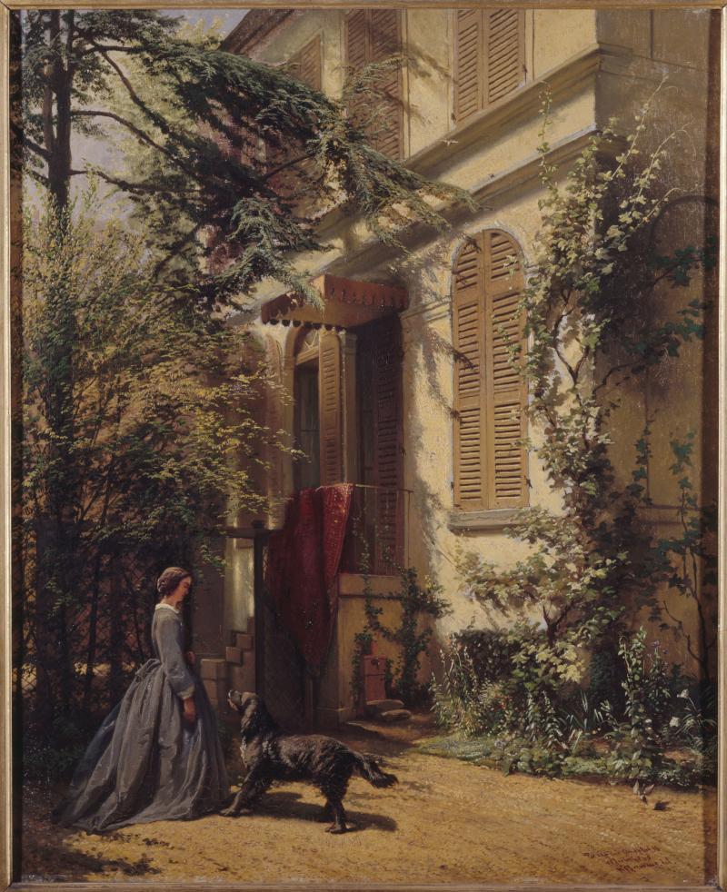 Arie Johannes Lamme (1812-1900). Le jardin de la rue Chaptal ©Musée de la Vie Romantique Roger-Viollet