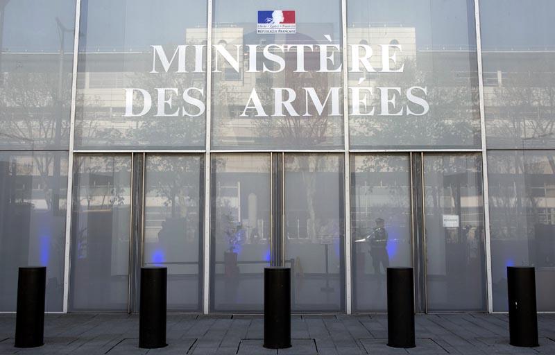 Façade du ministère des Armées à Paris