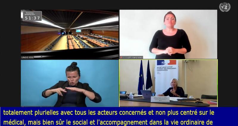 Audition de Sophie Cluzel par le Comité onusien des droits des personnes handicapées