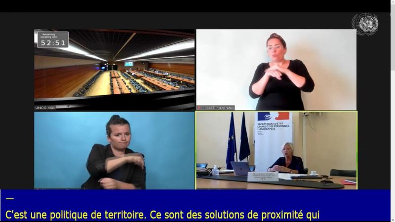Audition de la France sur la mise en oeuvre de la convention des droits des personnes handicapées