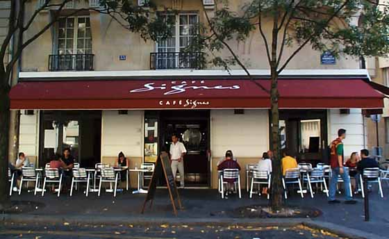 devanture du Café Signes à Paris.