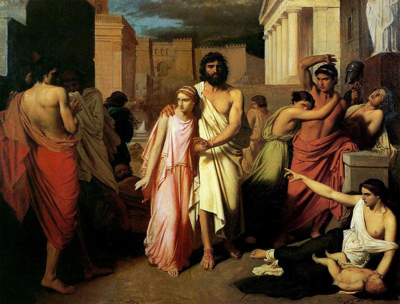 Charles Jalabert. Oedipe et Antigone