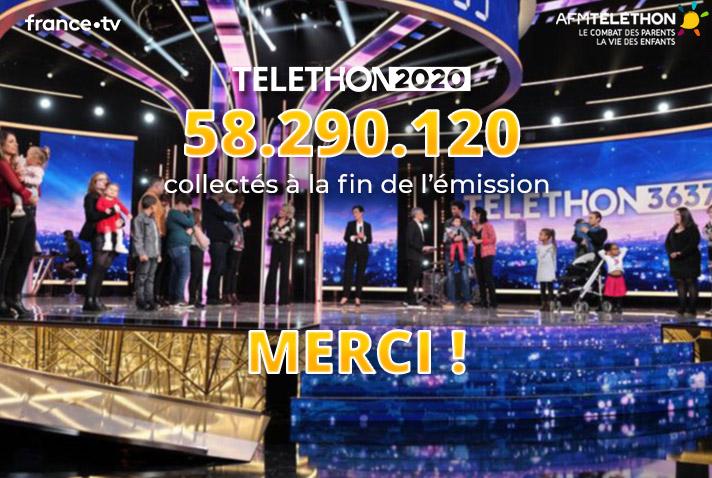 Compteur final du Téléthon 2020