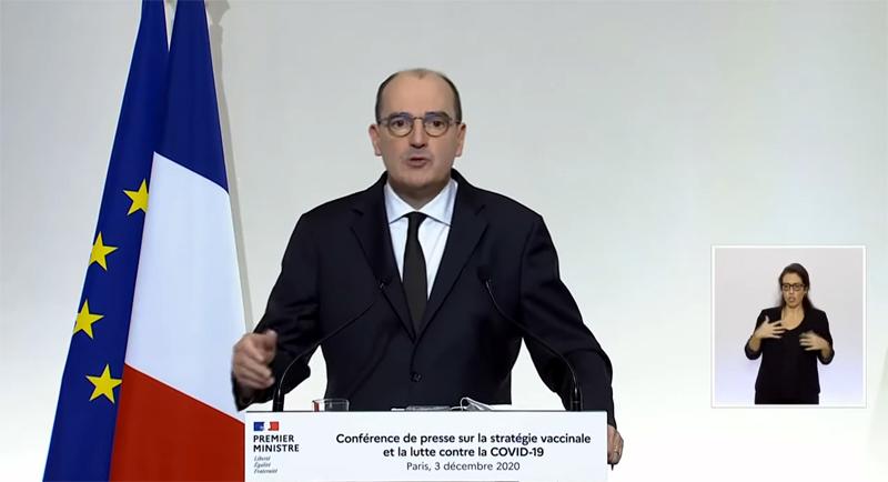 Conférence de presse du Premier ministre Jean Castex sur la stratégie vaccinale contre le Covid-19
