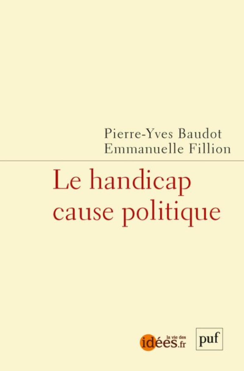 Couverture du livre Le handicap cause politique