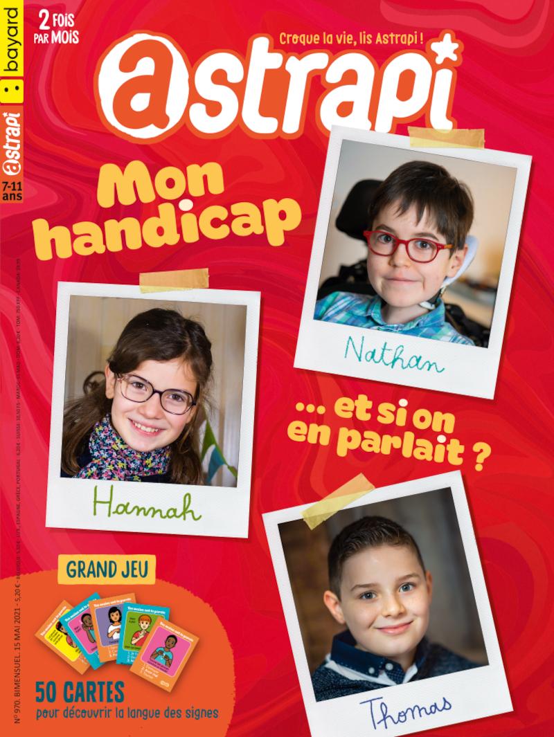 Couverture du magazine Astrapi Mon handicap