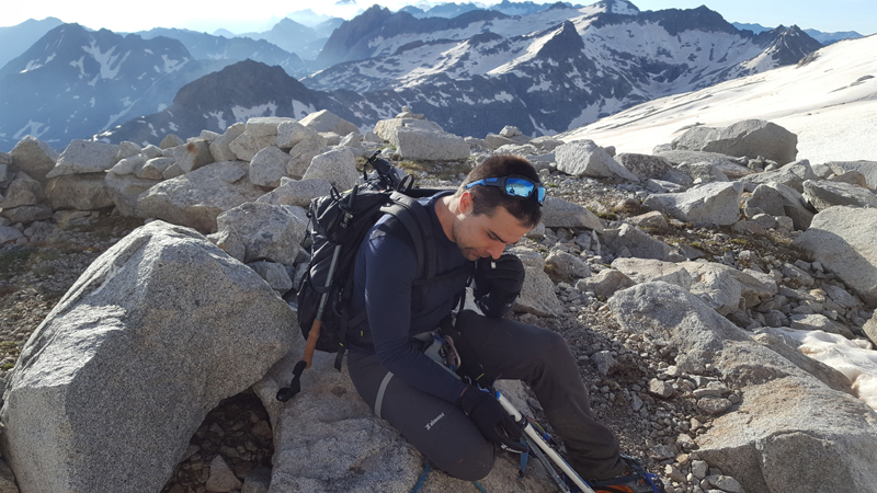 David Labarre au sommet du pic d'Aneto