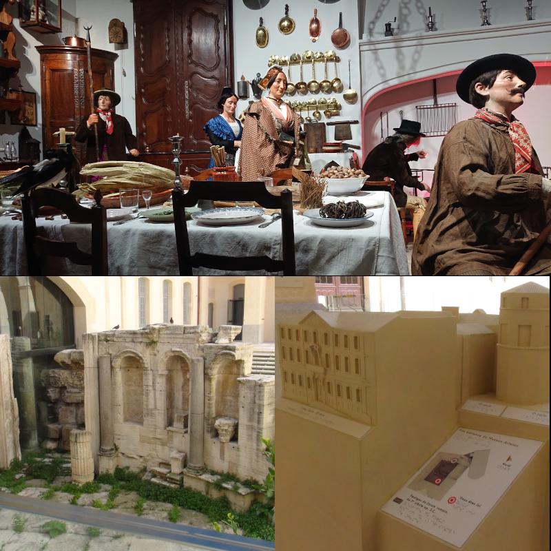 Diorama, vestiges du forum et maquette tactile du musée Arlaten d'Arles ©Yanous.com