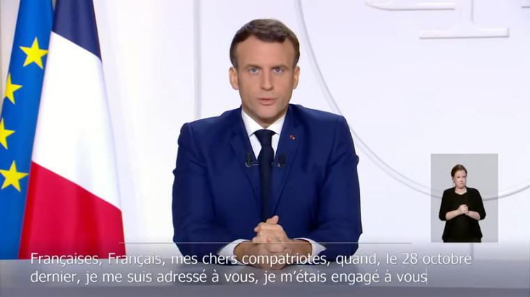 Emmanuel Macron le 24 novembre 2020