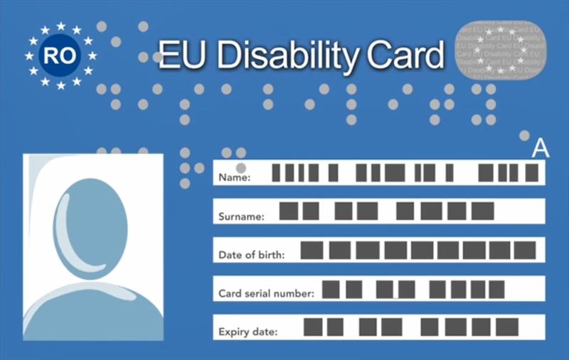 European Disability Card roumaine