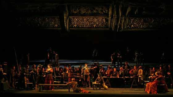 La Forza Del Destino, Verdi, Royal Opera House 2004. Photo Clive Barda.