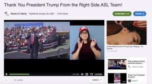 Heather Mewshaw remercie le président Trump