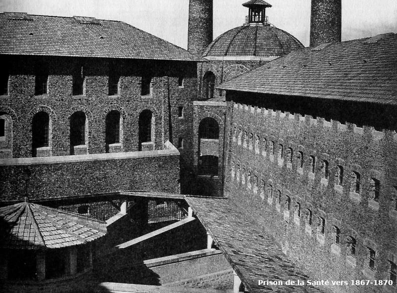 Intérieur de la prison de la Santé photographié par Charles Marville dans les années 1867–70