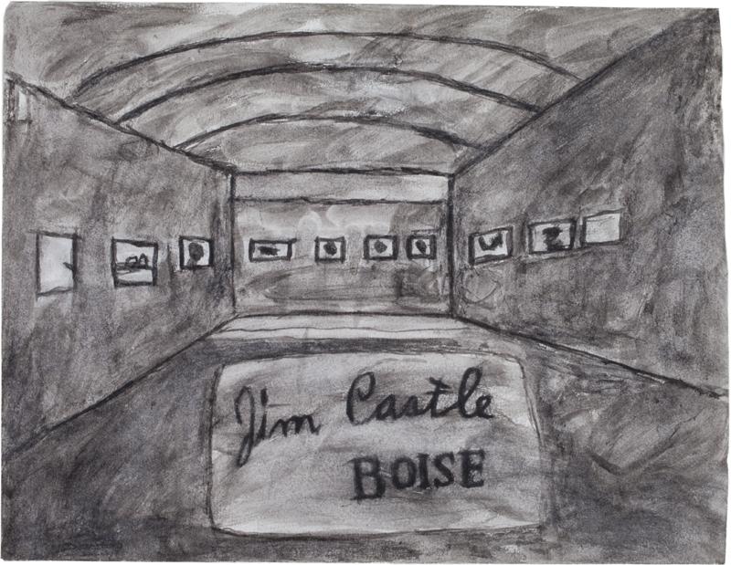 James Castle - Première expo à Boise Art Gallery ©James Castle Collection & Archive