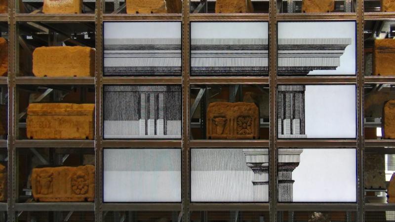 Les blocs de pierre du musée Narbo Via