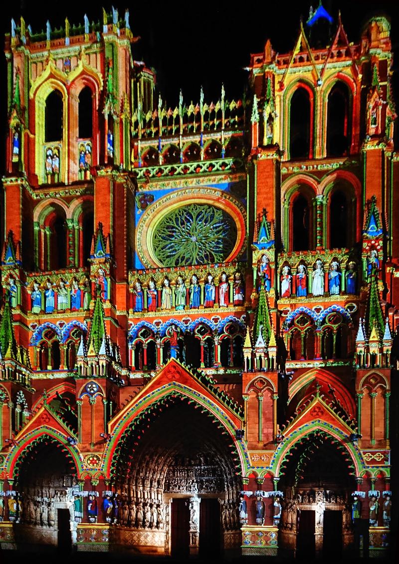 Les couleurs supposées de la cathédrale d'Amiens