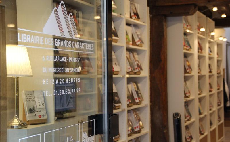 A la librairie des Grands Caractères