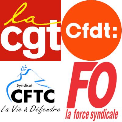 Logos des confédérations syndicales