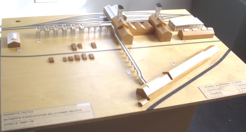 Maquette tactile et braille du Centre Historique Minier de Lewarde