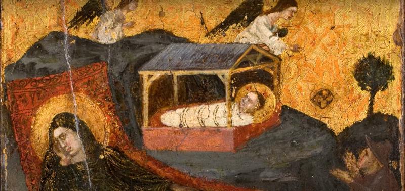 Nativité et Annonce aux bergers, de Pietro da Rimini
