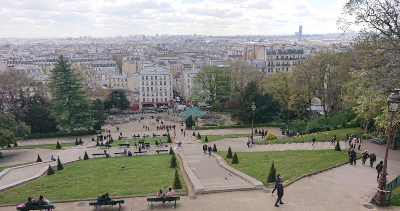 Paris depuis la butte Montmartre