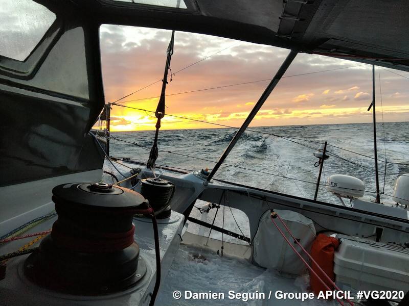 Photo envoyée depuis le bateau Groupe APICIL le 11 Décembre 2020 ©Damien Seguin-Groupe APICIL