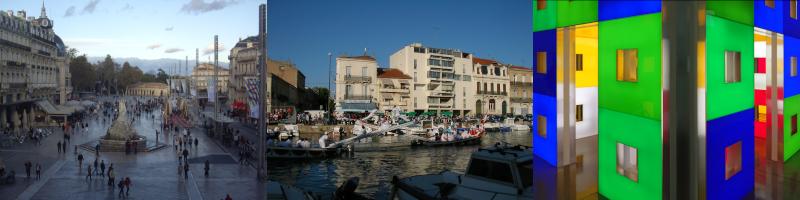Place de la Comédie à Montpellier, joutes nautiques de Sète et art contemporain à Sérignan ©Yanous.com