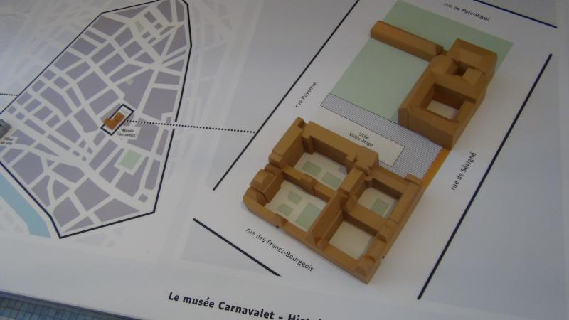 Plan tactile de situation du musée Carnavalet