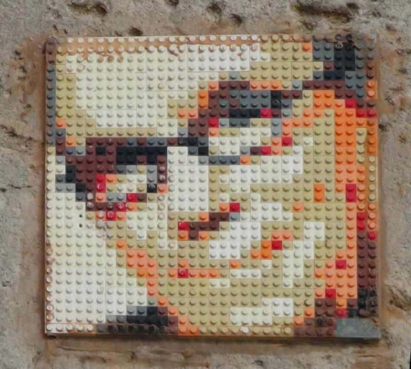 Portrait de Claude Nougaro en lego à Toulouse ©Yanous.com