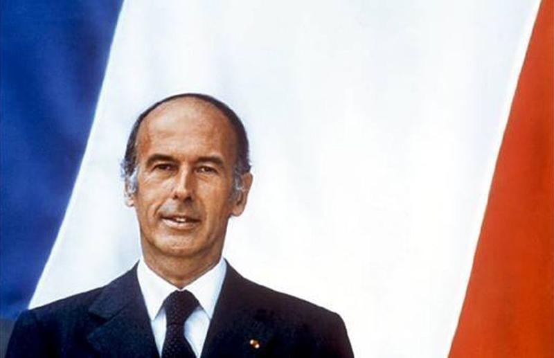 Portrait officiel de Valéry Giscard d'Estaing en Président de la République