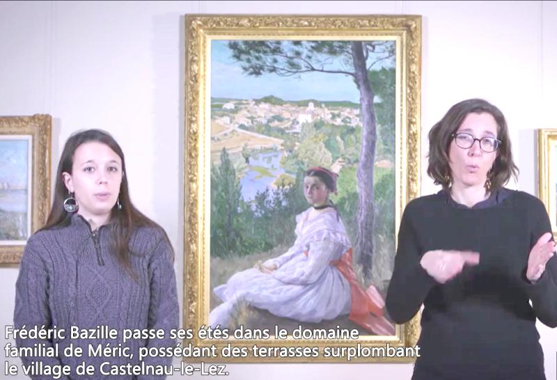 Présentation LSF d'un tableau du musée Fabre