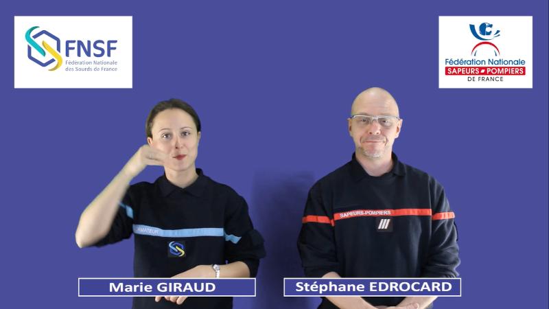 Présentation en LSF du partenariat Sourds et Sapeurs-Pompiers