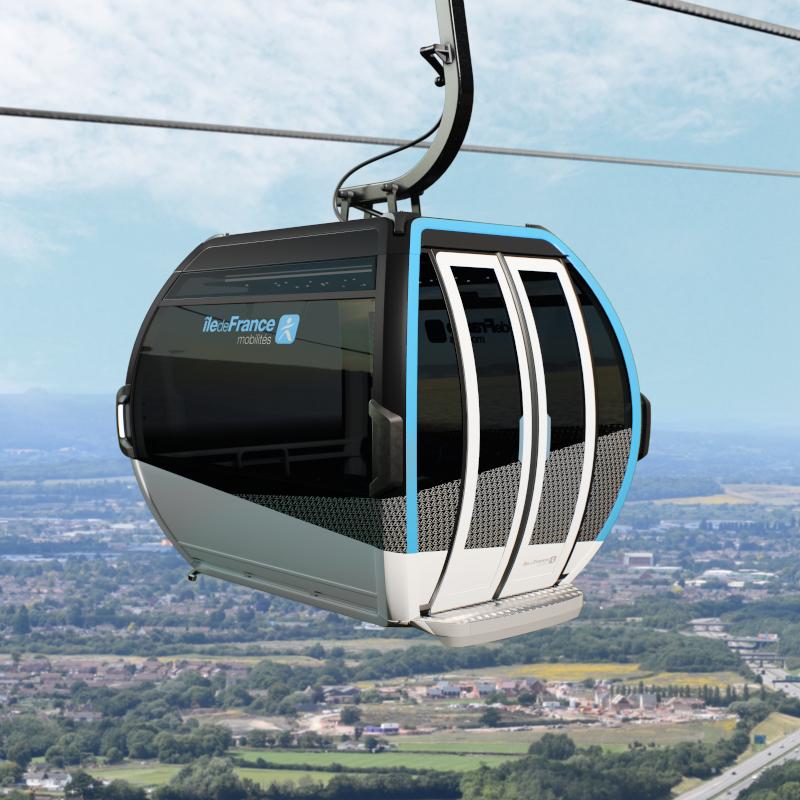 Projet de cabine de téléphérique ©Île-de-France Mobilités - Doppel France - Atelier Schall