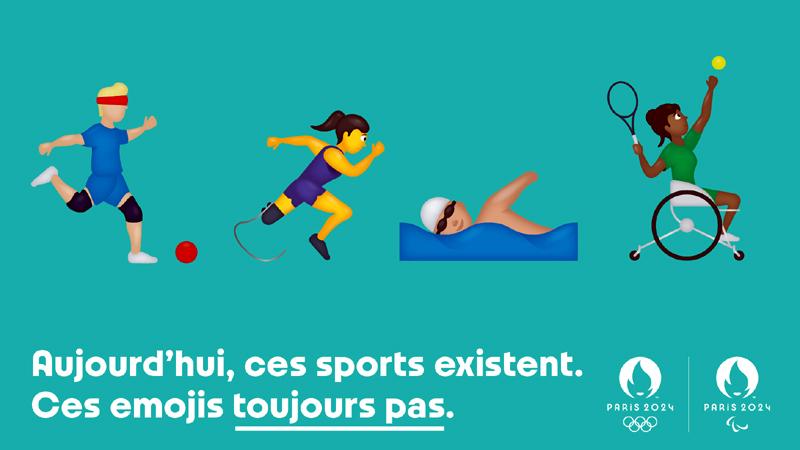 Projet d'émojis handisports de Paris 2024